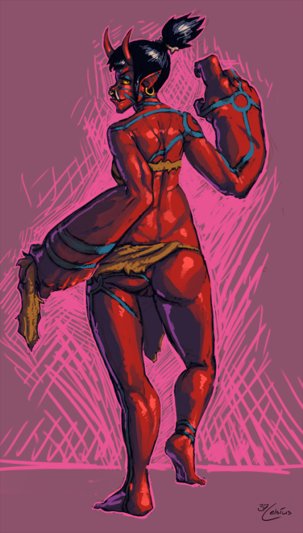 37celsius:  $20 Speedpaint of Vampireshadow's Oni  man your fast no wonder its called speedpaint =O <3