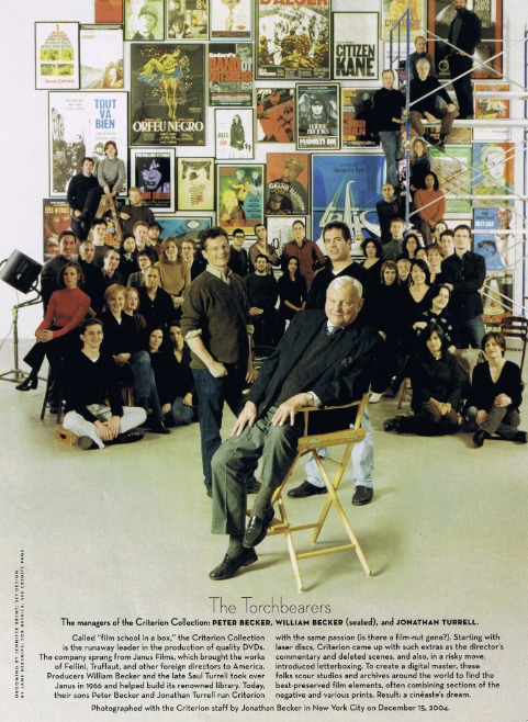 The Criterion Collection Team Photo : Vanity Fair  Photo Courtesy of janeherships Terrific Website