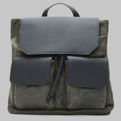 theclassyissue:  Olive & Matte Black Leather Backpack by Alexander Wang
