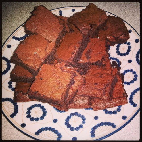 First time making brownies from scratch. How my parents like them!