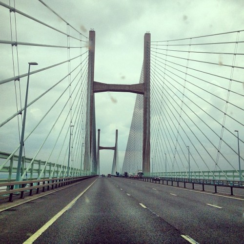 Severn Bridge. #goodbye #wales #england #crossingthewater #leavingthecountry #cominghome #severnbridge #bridge #toll