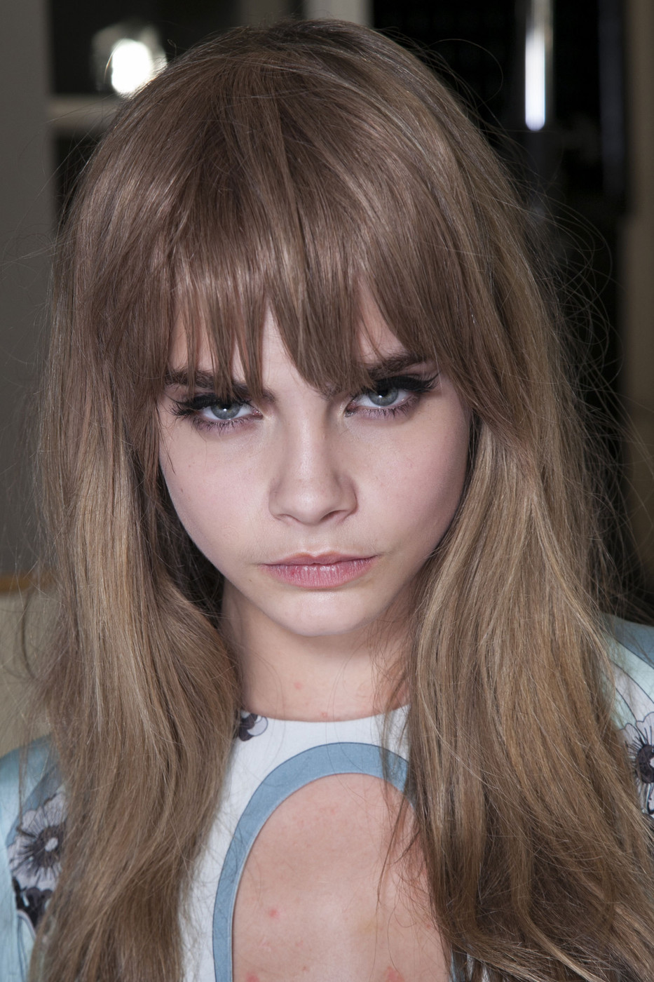 Cara Delevinge backstage at Pucci Fall 2013