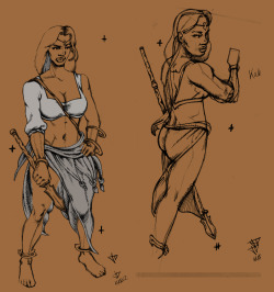 Character Design for a friend's story. Here's my sketches and semi-color process. I need to revamp, she said I made her too thick. (too thick, hmm?) ARTIFEXJAY