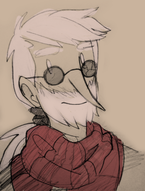 thepiedmon:  invisiblesmasher:  he gets more hipster every time i draw him  pretty