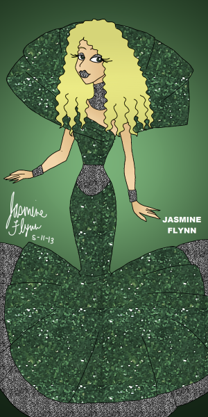 Emerald Queen a digital drawing by me, Jasmine Flynn :)