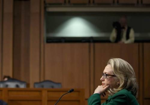 'I take responsibility,' Clinton tells Senate panel of Benghazi consulate attack (Photo: Chip Somodevilla / Getty Images) Secretary of state tells Senate Foreign Relations Committee that protection for U.S. personnel in the Sept. 11 attack on a U.S. diplomatic facility in Benghazi, Libya, was inadequate. Read the complete story. WATCH LIVE: Hillary Clinton testifies on Benghazi attack