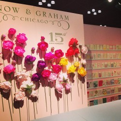 The gorgeous handmade paper flowers at the #snowamdgraham booth! #nss #nyc #paper #design #color #pattern #heaven