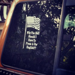 youmakemefeelwanted5712:  Bumper sticker on some guys car #love #country #truth
