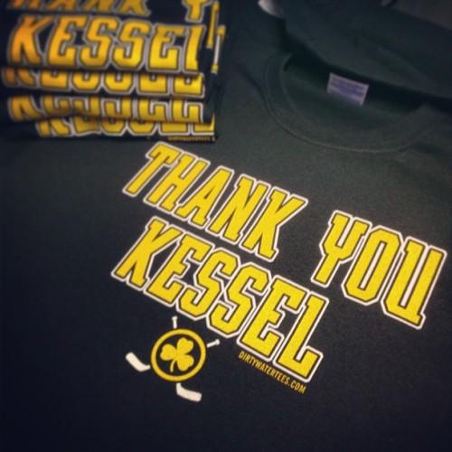 "Hot off the press! ""Thank You Kessel"" tshirt available at DirtyWaterTees.com for Only $12.00!!! #Bruins #Seguin #Hamilton #Boston #ThankYouKessel"