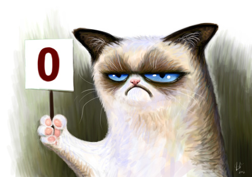 jonnovstheinternet:  Grumpy Cat rates your blog 0