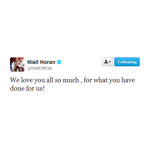 @NiallOfficial: We wanted t thank you all so much! and it is often very hard to do so in 140 characters on twitter! So here you go http://youtu.be/diEqtVXWRys   @NiallOfficial: We love you all so much, for what you have done for us!