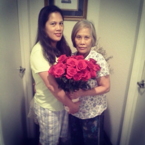 I know im late but happy mothers day to my madre and gradmama <3
