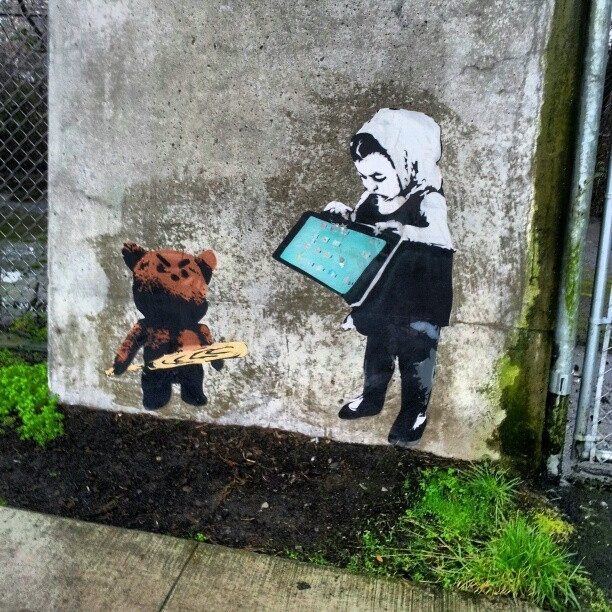 Banksy THIS.   (at Commercial - Broadway SkyTrain Station)