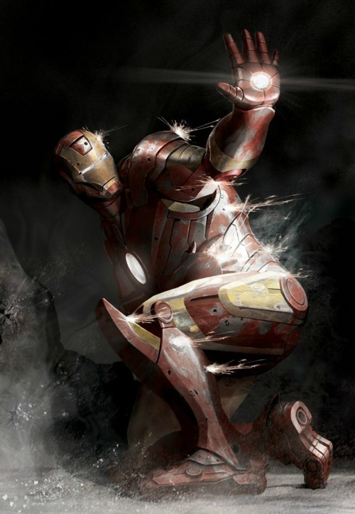 missbeckywrites:  Iron Man Pinned Down by Brian Lindahl