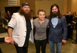 Wille Robertson, Hunter Haynes & Jep Robertson at the ACM's 2013
