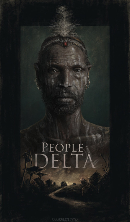 """People Of The Delta"" - Illustration by Sam Spratt A poster I made for this crazy ambitious movie Joey L is making. Check the project out here: http://kck.st/Vc0fZv"
