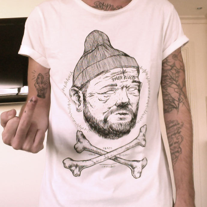 A couple months ago I did a 'Fock Team Zissou' tee for the homies at Dirty Collective. It's a limited run of 30 so head over a grab yourself one before they sell out! Up the Tiger Boods!