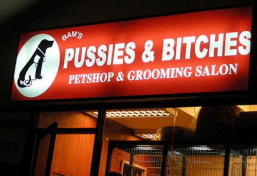 Pussies and Bitches Petshop  Their merchandise ain't shit.