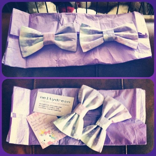 mandaplz:  my #pastel #galaxy #bows from #meltydream came in today! They are too cute!!!