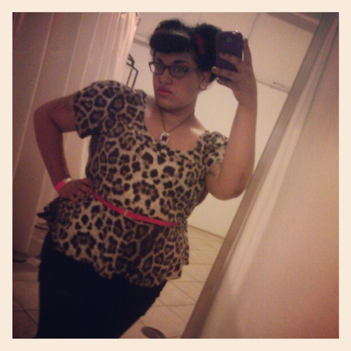 Burlesque festival, day two.  #gpoy #fatpinup #leopardprint #fatshion #burlesque #stlouis #showmeburlesque