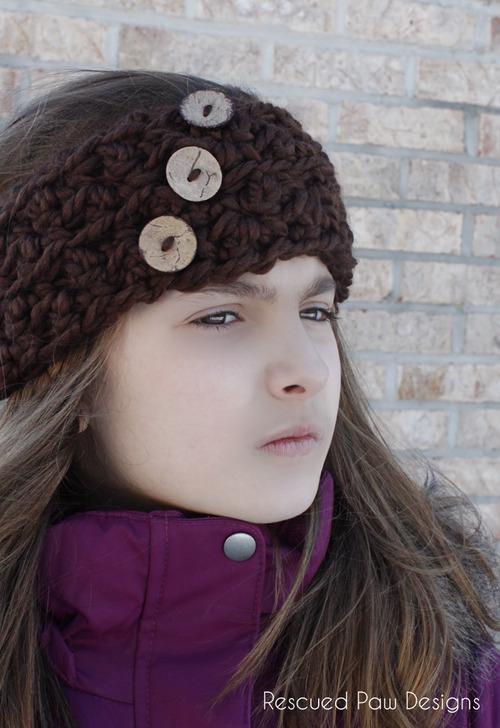 Crochet Ear Warmer Crochet Pattern Giveaway Rescued Paw Designs