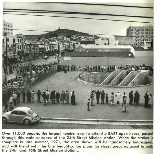24th Street BART station preview.  from Rapid Transit, August, 1970.