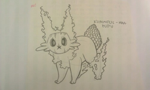 Had doodled a fakemon and forgot to up it.  Ghost/ground type pine bunny.
