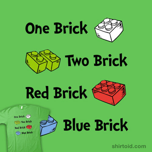 One Brick, Two Brick by Chris McVeigh is available at SnorgTees