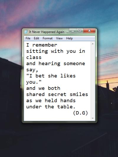 poemstoem:  We never held hands again after. (1/365)