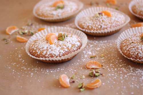 Delicious sounding recipe find of the day! foodopia:  mandarin pistachio magdalenas, small spanish cupcakes: recipe here