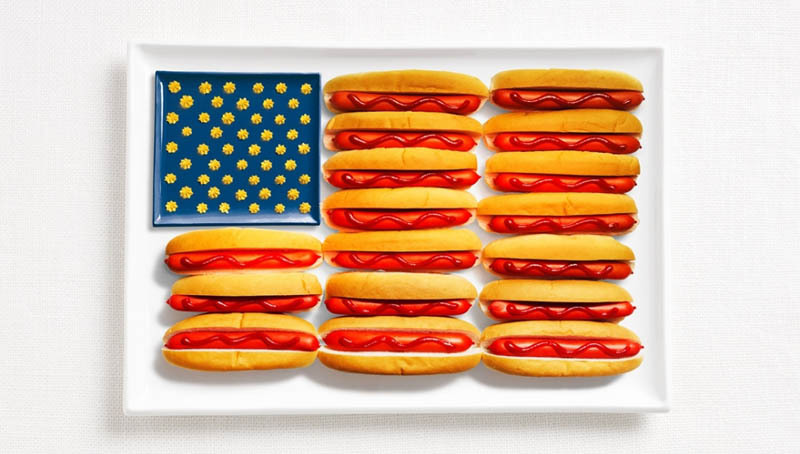 If only every flag was made out of hot dogs! WHYBINTBWA created 18 country's flags out of food for the Sydney International Food Festival. Being patriotic has never been so tasty.