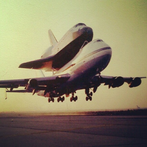 mxdp:  wheresmycow:  momojax:  #Nasa #Endeavour #shuttle (at Space Shuttle Endeavour @ California Science Center)  The Endeavour tag gets more and more confusing. I saw this pic and thought 'Well, that's not really Endeavour/Thursday, it looks more like Douglas/Martin.  HAHAHAHAHAHA