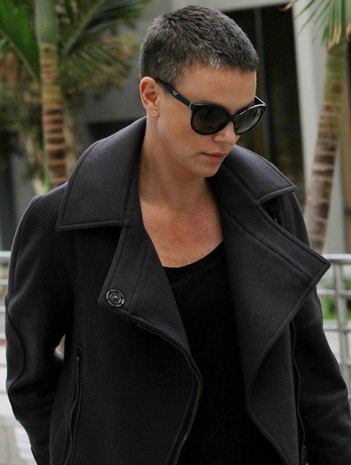 hellotailor:  thevinckanator:  Attention, Tumblr!  Charlize Theron has a salt and pepper buzz-cut.  just in case you were wondering how this haircut could possibly be any more awesome, remember that it exists for the MAD MAX MOVIE SHE IS CURRENTLY FILMING WITH TOM HARDY. A MAD MAX FILM STARRING TOM HARDY AND CHARLIZE THERON WITH A SALT-AND-PEPPER BUZZ CUT!!!!!!! leave. me. to. die.