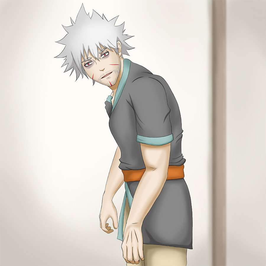 Tobirama looking very tired, almost like a zombie