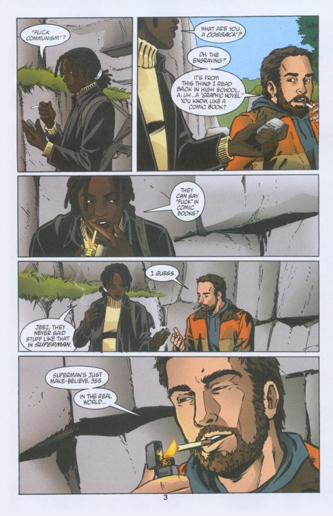 towritecomicsonherarms:  He's talking about Preacher Y: The last man #11