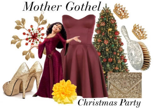Mother Gothel-Christmas Party by everythingisdisney