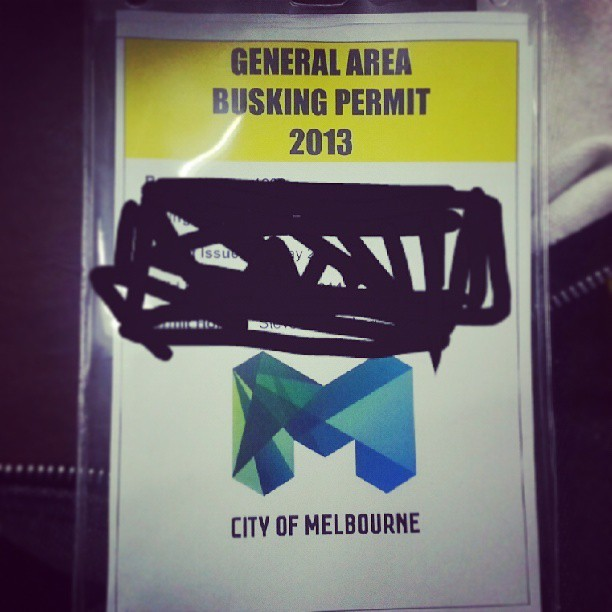 Well lookie what I got here :) #busk #busking #melbourne #city #singer #streetperformer