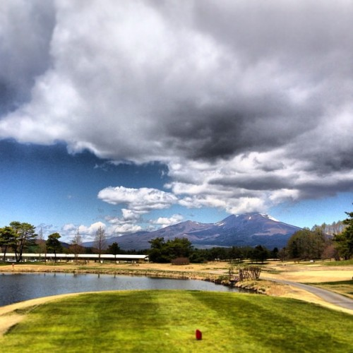 #karuizawa #asama #golf #green #sky #cloud #water