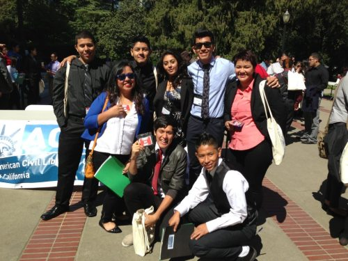 ie-iyc:  The IE-IYC at the State Capitol lobbying for the Trust Act (AB 4) on Monday.