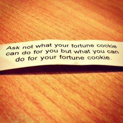 How is this the best and worst fortune of all time? #InstaGood #InstaDaily #Fortune #Cookie #Chicago #Treated #Love #Bridgeport