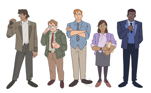 roboomic:i've never done a character lineup before so here's archives crew hcs,,, #wowwoowo #love !!