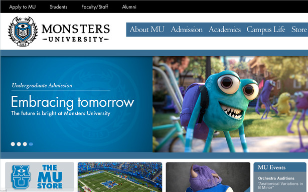 Pixar's Fake College Website Will Make You Want to Go There