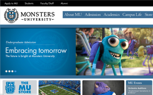 theatlantic:  Pixar's Fake College Website Will Make You Want to Go There