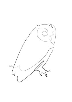 (One line) Midnight Owl
