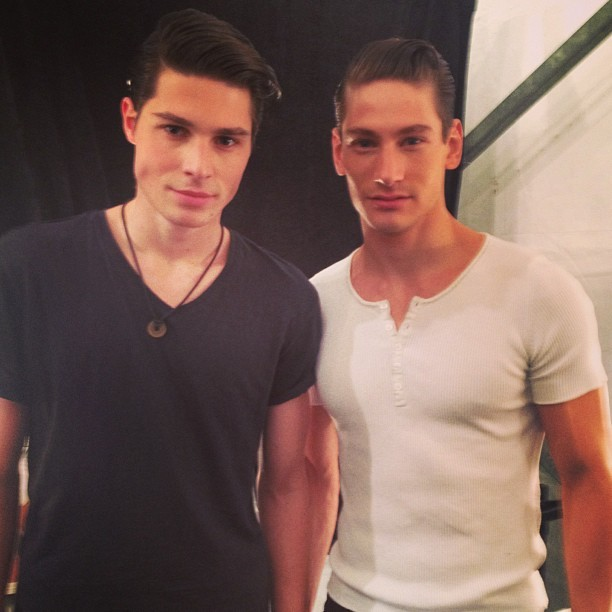 @sit_b Stig @qmodels @nuelmcgough #backstage Sergio Davila #nyc #nyfw @peoplesrev #titanlight