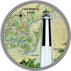 imgoingcoastal:  Cape Romain Light, South Carolina  I ♥ Lighthouses.