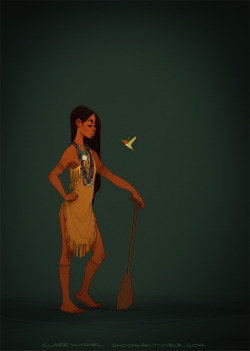 Finally updated Pocahontas!  I don't think this is what people were expecting as the next entry in the series, but some of the criticisms of my first design have been eating away at me for years now and I needed to get off my ass and address them. So hey!  Spunky age-appropriate Pocahontas/Matoaka, sans feathers in the hair/European imagery/other superfluous details.  This is closer to accounts and illustrations of Powhatan dress from the period, and I kinda think it's closer to the Disney design anyway. WIN/WIN. Thanks to everyone who's educated my ass over the past couple of years, including moniquill, apihtawikosisan, this-is-not-native, and numerous others.  You've made me a way more thoughtful artist in the process. :) -C See the rest of the series HERERead the FAQ HEREBuy prints HERE