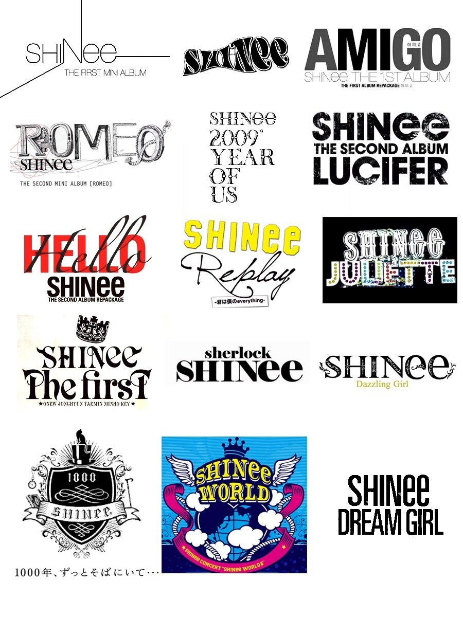 2008-2013 SHINee Album Logo's