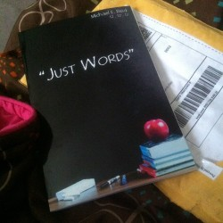 Super excited my book came in the mail @justmike_     😀 #JustWords #MichealReid #greatpoet     #poems #Books