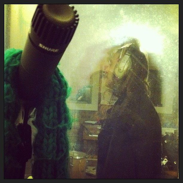 from the vocal booth #helenscott #basementsessions #thelionfactory (at Lion Factory)